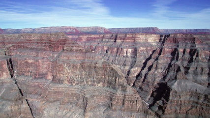 Grand Canyon. Aerial view from helicopter