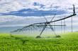 Irrigation equipment on farm field