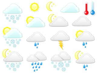 Meteo Tempo Simboli Icone-Weather Symbols and Icons