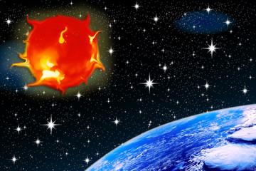 éruptions solaires