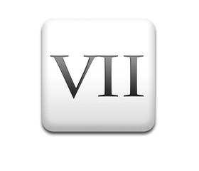 Boton cuadrado blanco numero romano 7