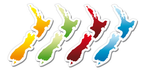 stickers in form of New Zealand