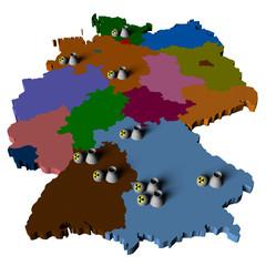 Karte 9 Atomkraftwerke Deutschland
