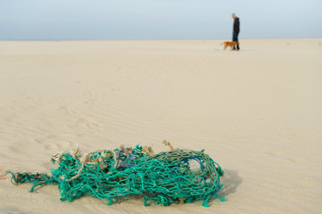Fishing net at the beach