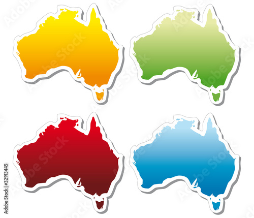 stickers in form of Australia