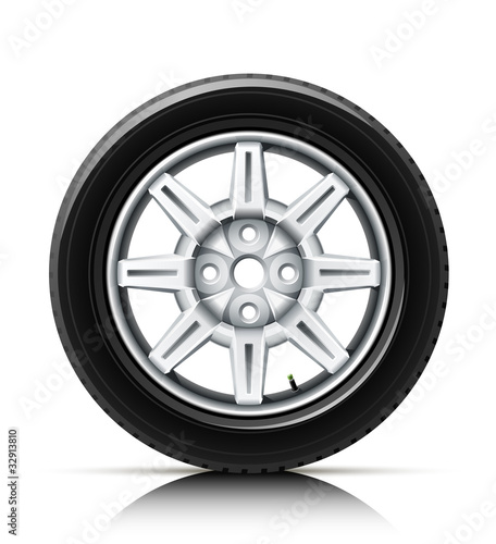 car wheel vector illustration