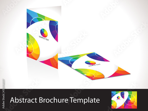 abstract colorful rainbow brochure template