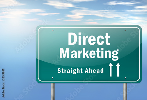 "Highway Signpost ""Direct Marketing"""