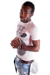portrait d'un jeune homme noir