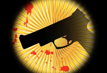 Fondo abstracto con pistola