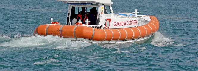 coast guard at sea