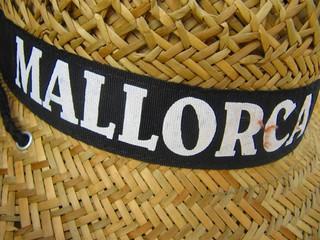 Sombrero de paja, souvenir de Mallorca.