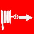 señal de manguera para apagar fuegos