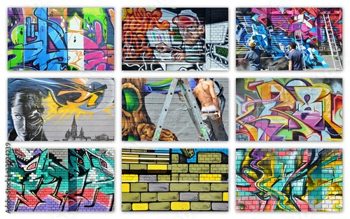 Keuken foto achterwand Graffiti collage graffiti...collage