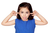 Little girl mocking poster