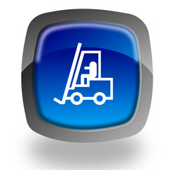Forklift truck button