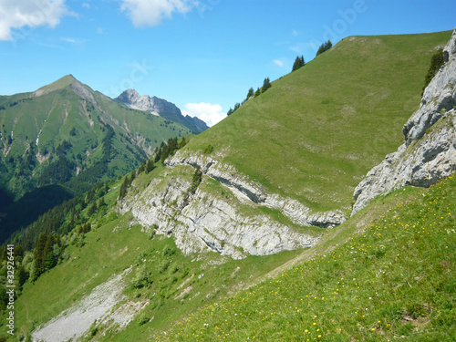 Paysage des Bauges, pré-alpes françaises