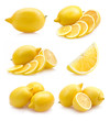 set of lemon images