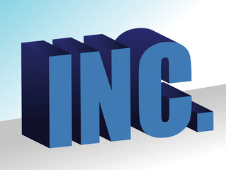 inc 3d illustration