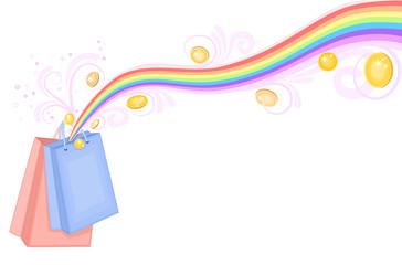Shopping bags treasure - vector EPS 8