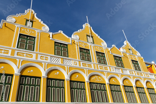 Yellow House in Curacao