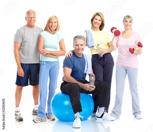 Healthy elderly people.