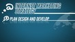 Internet Marketing Strategy video illustration on blue in HD