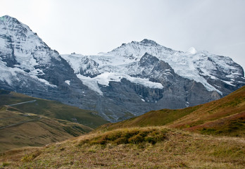 view from kleine scheidegg