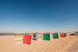 Dutch beach with retro chairs