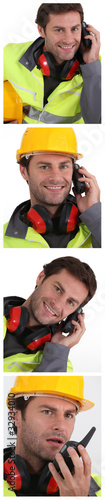 Portraits of building worker