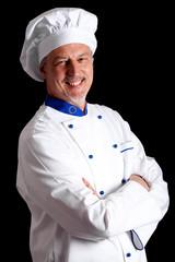 Chef portrait on dark background