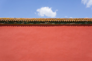 Ancient red wall