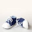 Children´s shoes on white background