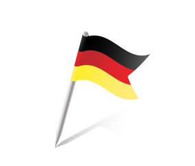 Deutschland Pin Flag