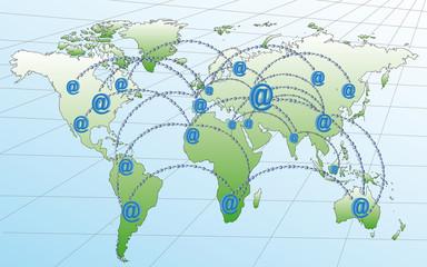 Réseaux internet dans le monde