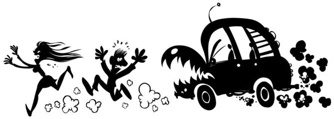 Horror car incident.