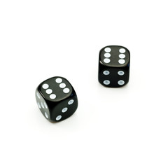 two black dice