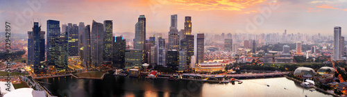 Foto op Aluminium Singapore Singapore at sunset