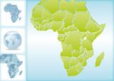 Weltkugel Weltkarte Landkarte Afrika Karte 2