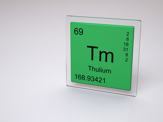 Thulium - symbol Tm - chemical element of the periodic table