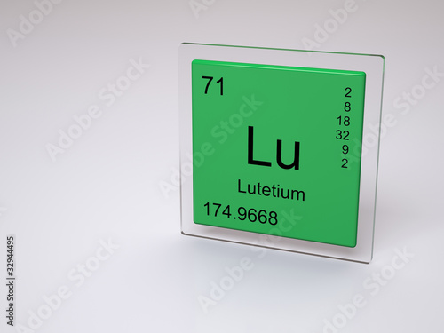 Lutetium - symbol Lu - chemical element of the periodic table