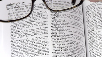 Dictionary terms SOLUTION glasses - HD