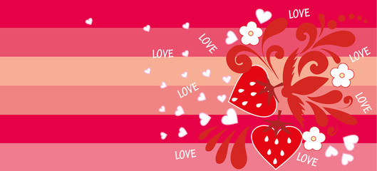 Vector illustration. Valentine background