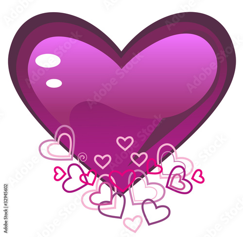 Vector illustration. Love heart.