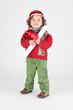 Little boy dressed as a workman