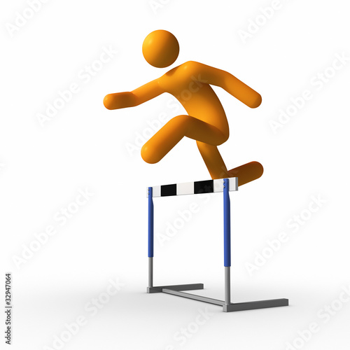 Jumping over hurdle
