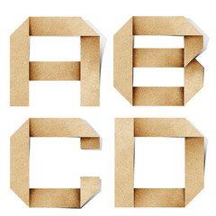 Origami alphabet letters recycled paper craft.