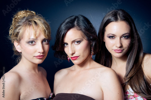 Three beautiful and confident young woman