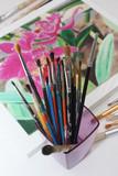 Atelier de Peinture - Tableau - pinceaux poster