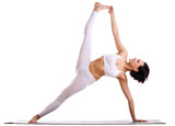 woman in yoga asana - Side Plank pose